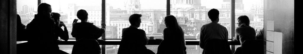 people sitting at window
